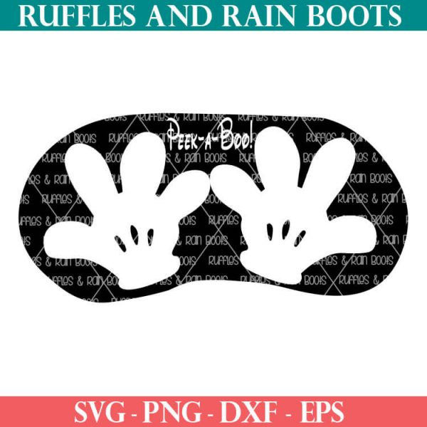 Mickey Hands Mask SVG cut file set for cricut or silhouette