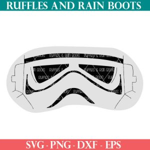 Stormtrooper mask cut file set for eye masks