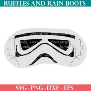 Stormtrooper mask cut file set for eye masks