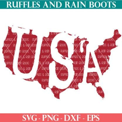 vintage distressed weathered usa silhouette svg from ruffles and rain boots