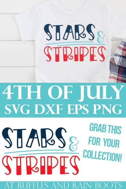 collage of adorable Independence day design of stars and stripes with text which reads 4th of July svg dxf eps png