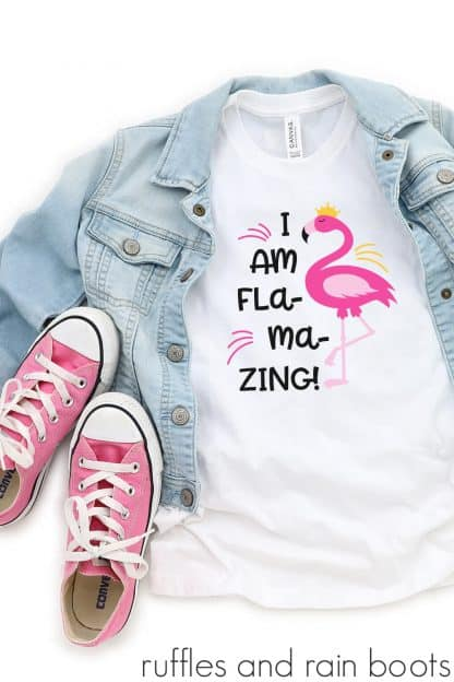 tshirt featuring adorable flamingo cut file for summer svg motivational clipart