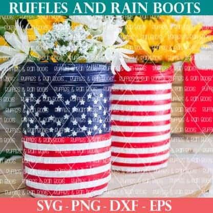 american flag mason jar farmhouse craft