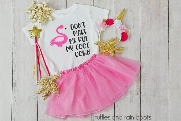 dont make me put my foot down on child t shirt with tutu