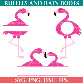 flamingo monogram svg bundle