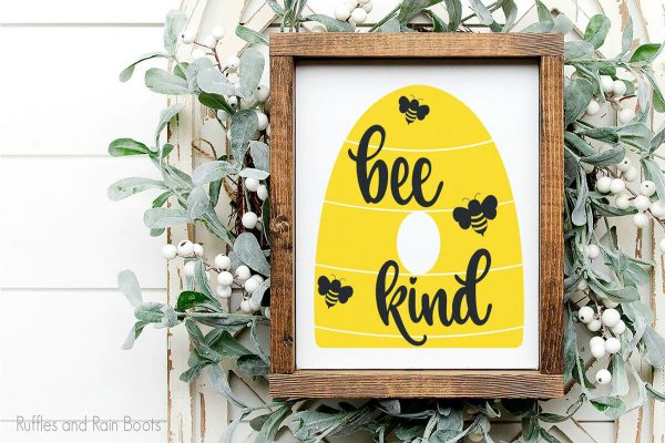 cute Bee Kind SVG set for cricut or silhouette