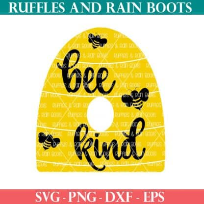 Bee Kind bee SVG for cutting machines