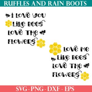 Bee Love cut files For cricut or silhouette