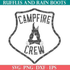 Campfire Crew cut file set for cricut or silhouette cutting machines