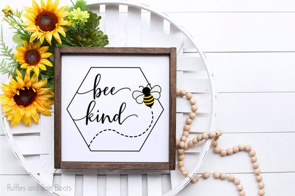 Honeycomb Bee Kind cut file set for cricut or silhouette