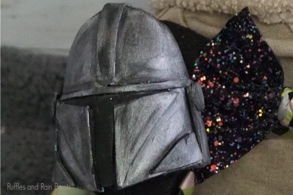 digital cut file pattern set for making the Mandalorian helmet ornament