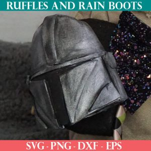 Mandalorian Helmet Ornament cut file set for cricut or silhouette