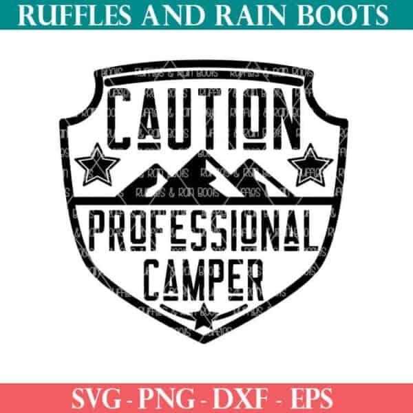 Professional Camper cut file For cricut or silhouette