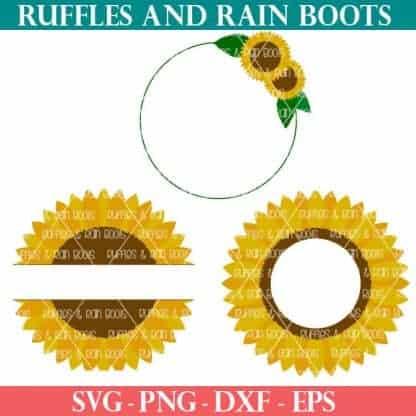 Sunflower SVG cut files for summer crafts