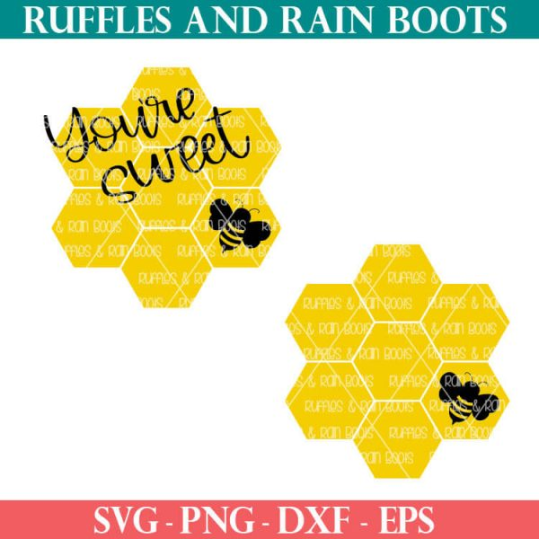 Sweet Bee cut file Set For sublimation