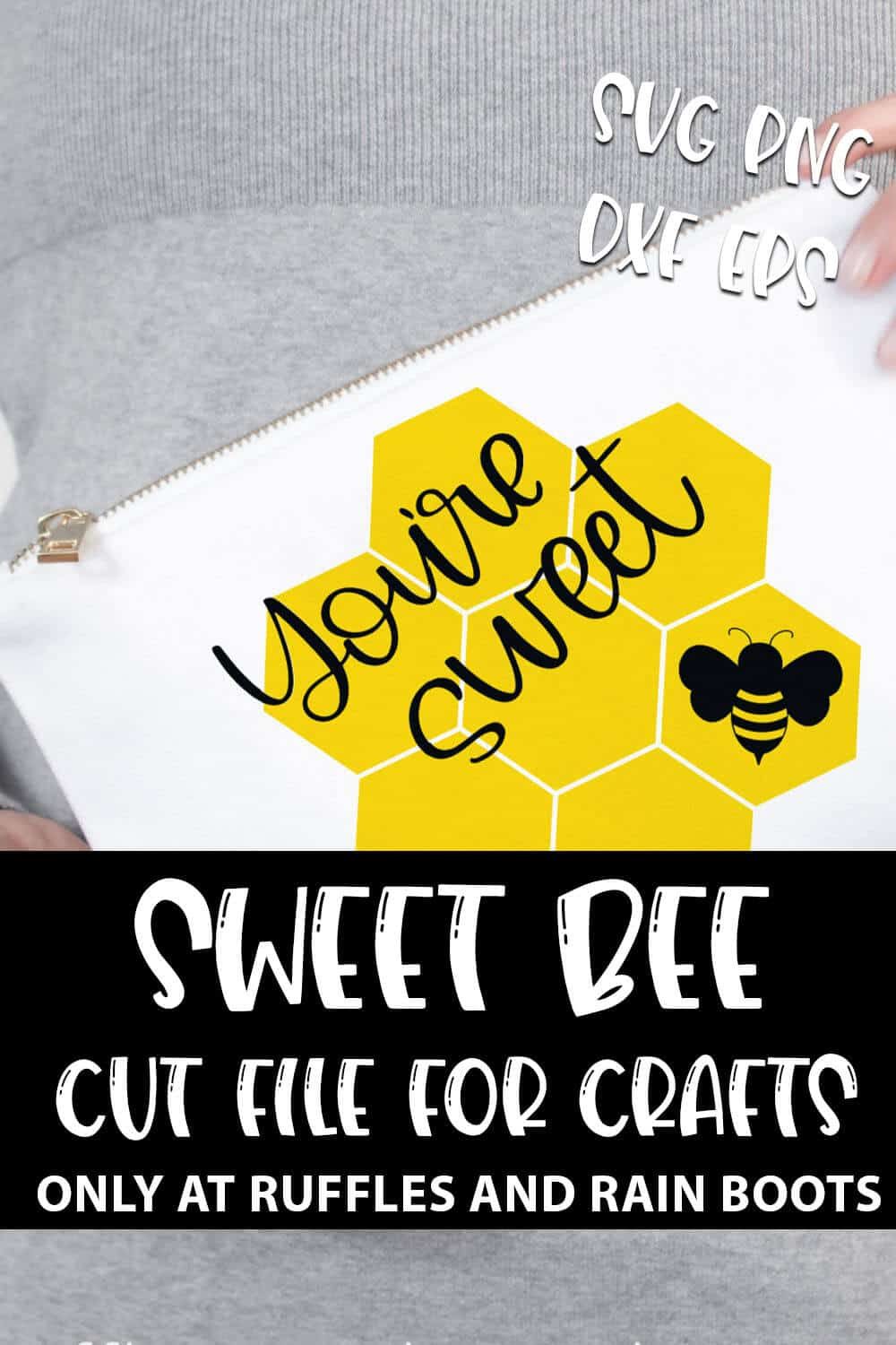 you're Sweet Bee SVG Set For cricut or silhouette with text which reads sweet bee cut file for crafts svg png dxf eps