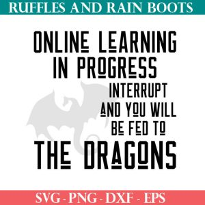 Dragon Online Learning SVG set for cutting machines