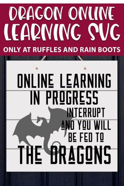 Dragon Online Learning cut file set for crutting machines with text which reads dragon online learning svg