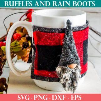No-sew gnome pattern for a mug cozy
