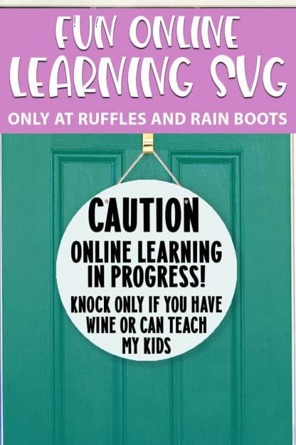 Online Learning cut file set for cricut or silhouette with text which reads fun online learning svg