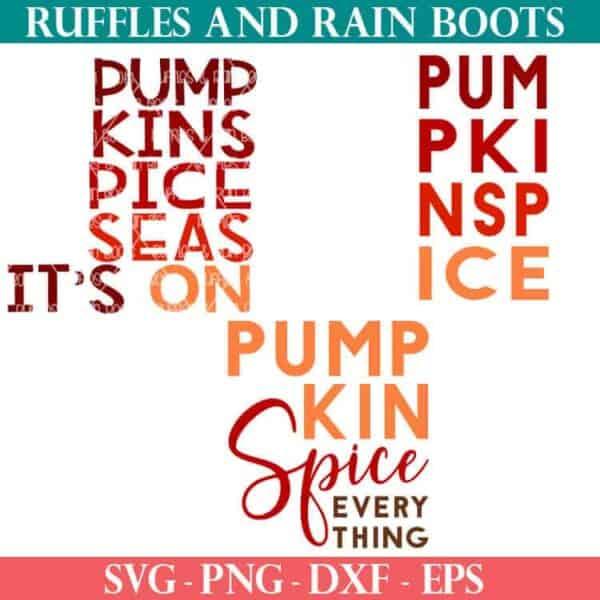 Pumpkin Spice cut file Bundle for cricut or silhouette