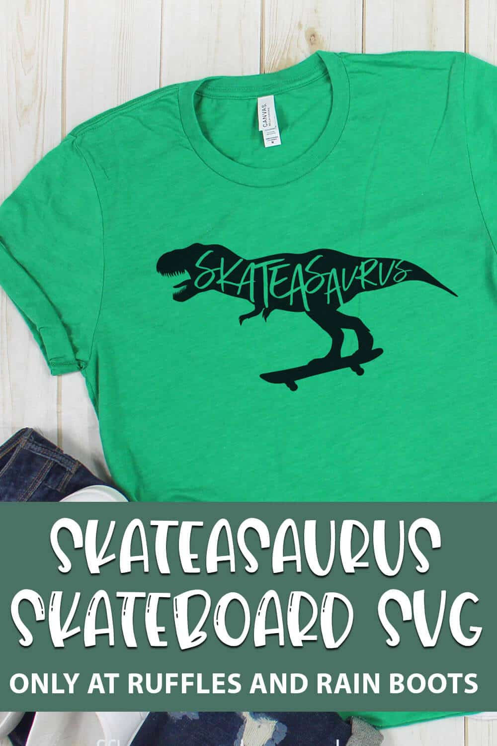 Skateasaurus Skateboard cut file set for cricut or silhouette with text which reads skateasaurus skateboard svg