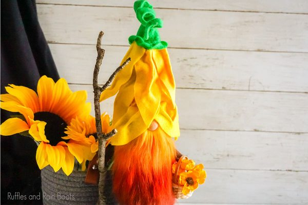 Sunflower gnome hat pattern and cut file set for cricut or silhouette