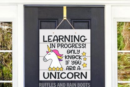 Unicorn Learning in Progress SVG file set for cutting machines