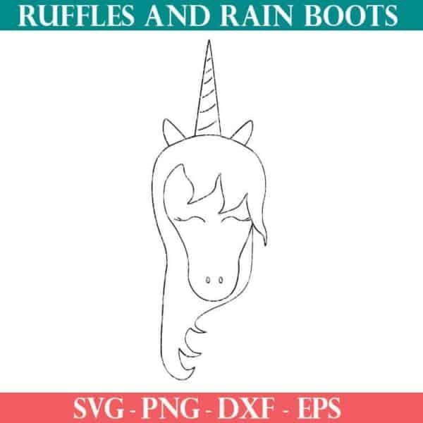 unicorn face cut file set for cricut or silhouette