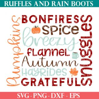 fall subway tile art SVG set for cutting machines