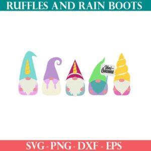 unicorn gnome cut file set for cricut or silhouette