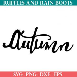 Autumn SVG cut file for cricut or silhouette
