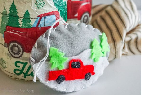 Christmas Farm Truck Ornament DIY Craft for christmas