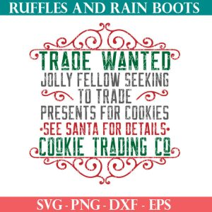 Cookie Trade Santa SVG cut file set for cricut or silhouette