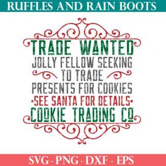 Cookie Trade Santa SVG cut file set for cricut or silhouette