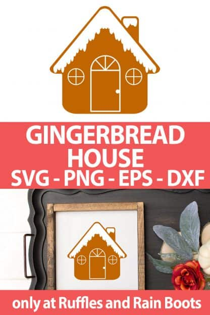 Gingerbread House svg for cricut or silhouette with icing