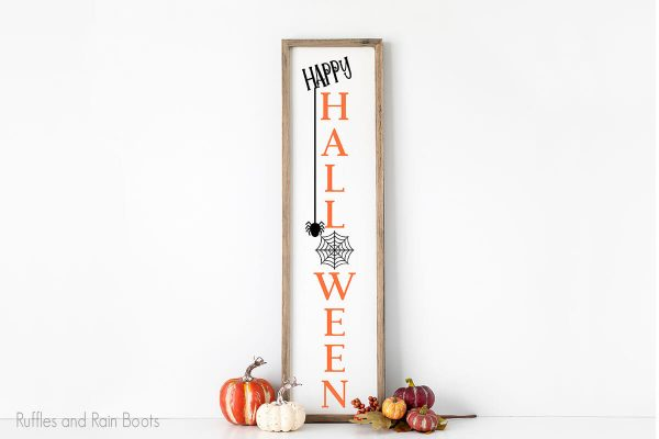 Happy Halloween Sign for porch cut file set for cricut or silhouette cutting machines