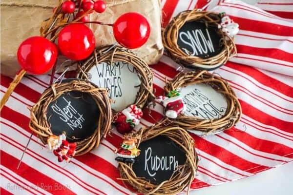 Mini Grapevine Wreath Ornament cut file set for cricut or silhouette