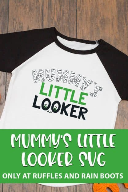 Mummy's LIttle Looker cut file for cricut or silhouette with text which reads mummy's little looker svg