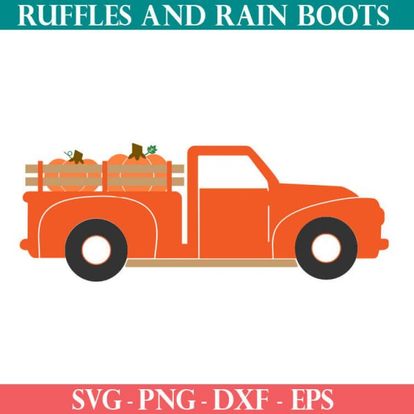 fall farm truck cut file set for cricut or silhouette