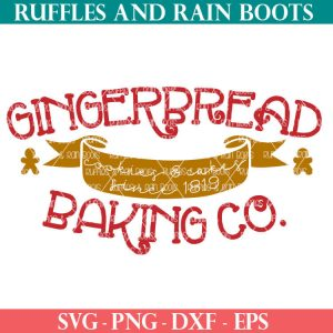 gingerbread baking company cut file set for cricut or silhouette