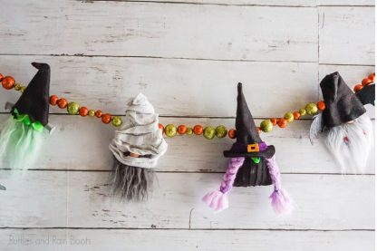 halloween gnome garland pattern set