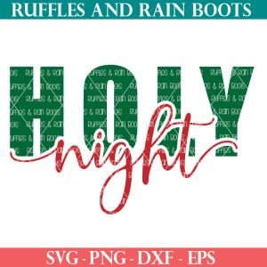 holy night SVG file set for cricut or silhouette