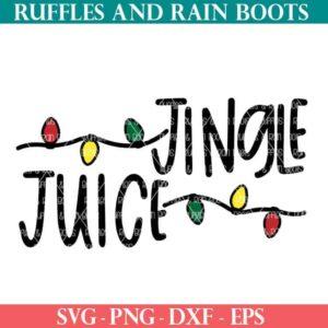 jingle juice with christmas lights SVG file set for cricut or silhouette