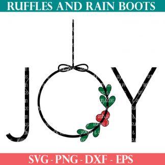 joy ornament SVG file set for cricut or silhouette