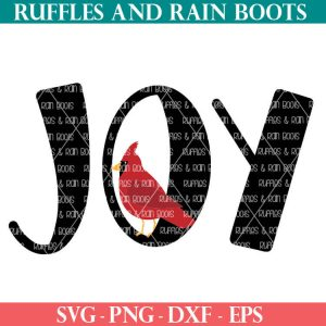 joy and cardinal SVG file set for cricut or silhouette