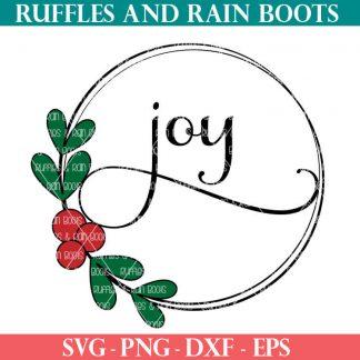 joy wreath SVG file set For cricut or silhouette