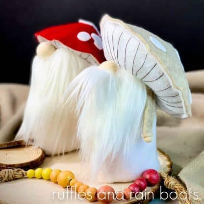 mushroom hat gnome no sew gnome pattern
