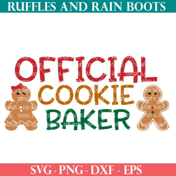 official cookie baker cut file set for cricut or silhouette