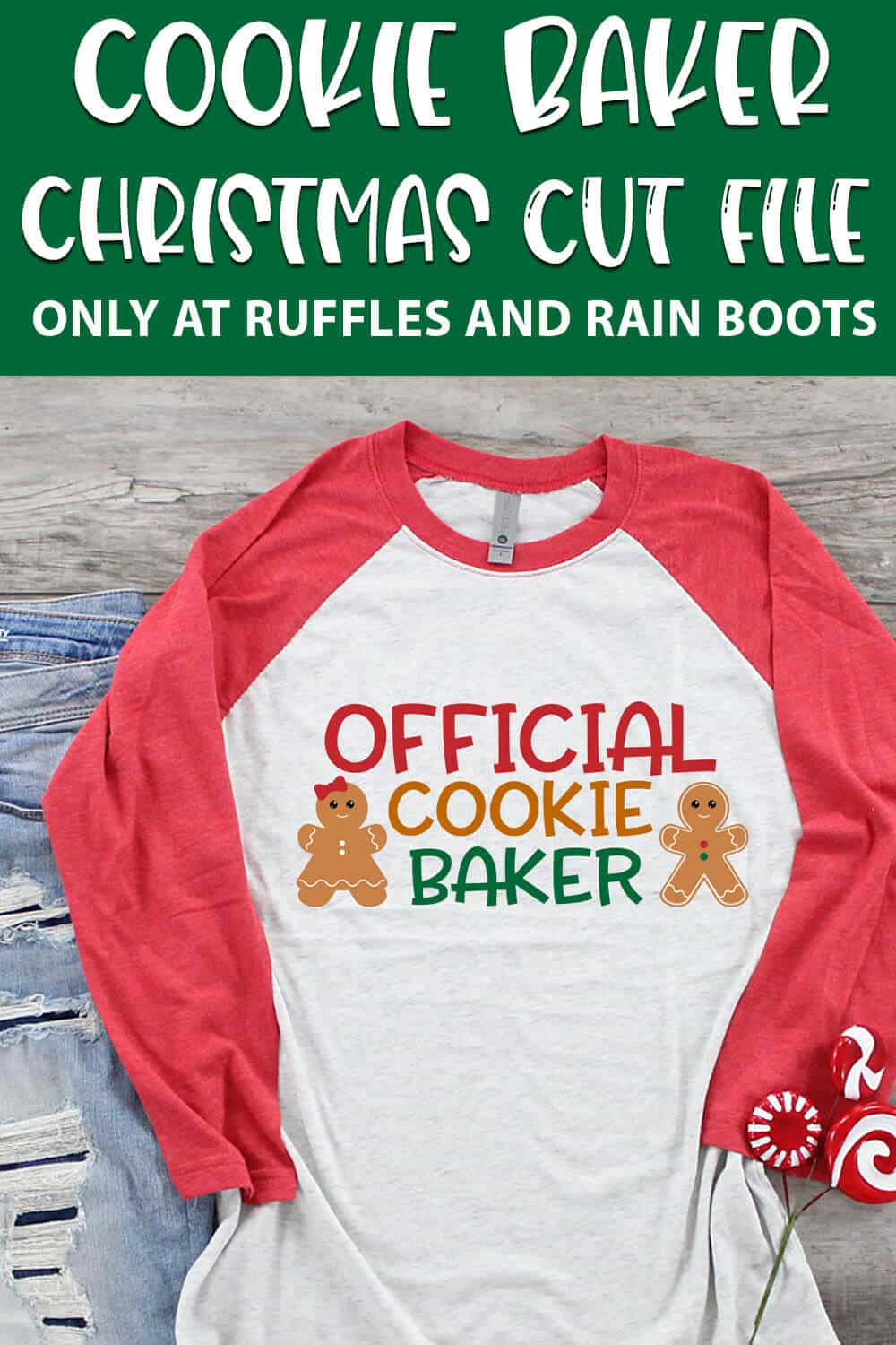 official cookie baker sublimation file on a t-shirt with text which reads cookie baker christmas cut file